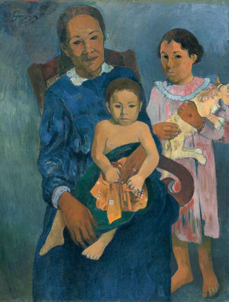 Polynesian Woman with Children - Paul Gauguin