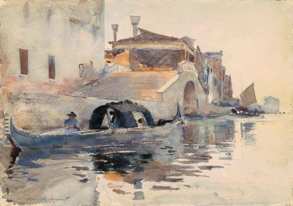 Ponte Panada, Fondamenta Nuove, Venice - John Singer Sargent
