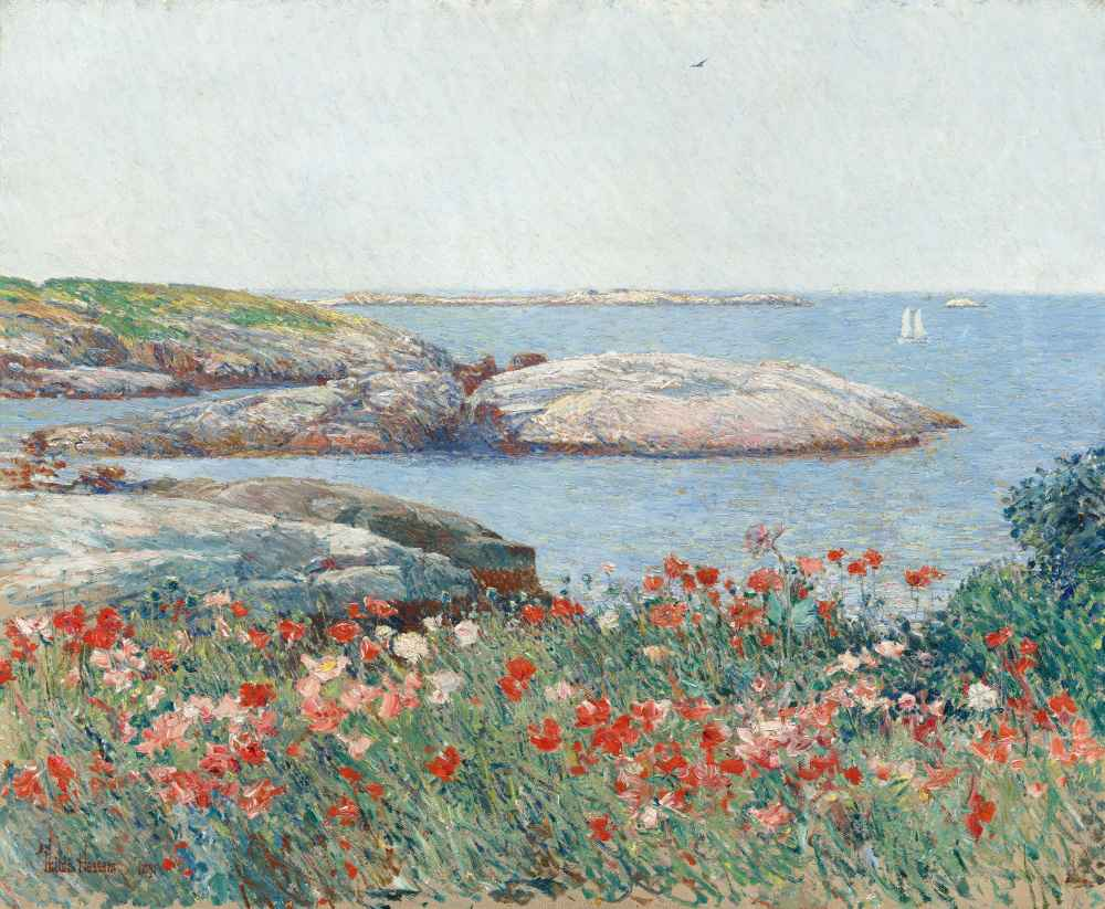 Poppies, Isles of Shoals - Childe Hassam