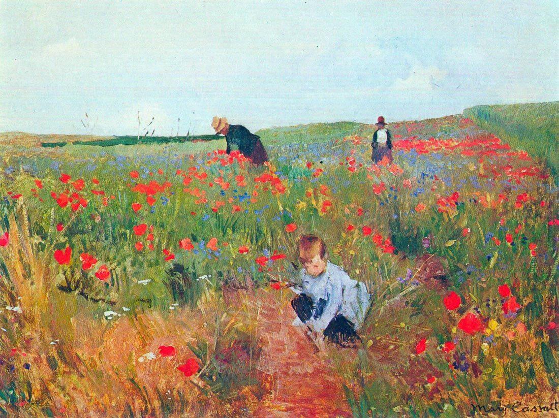 Poppy in the field - Cassatt