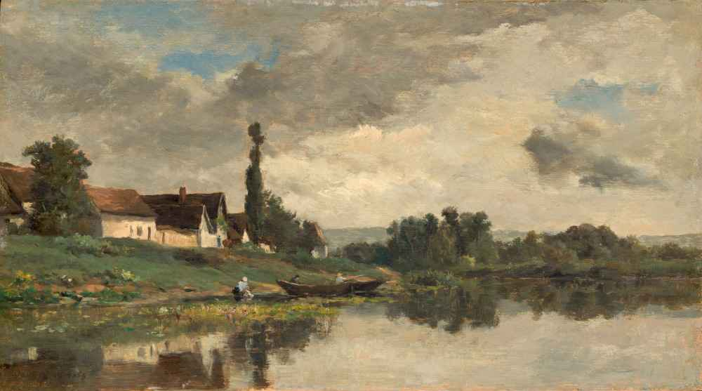 Portejoie on the Seine - Charles-Francois Daubigny