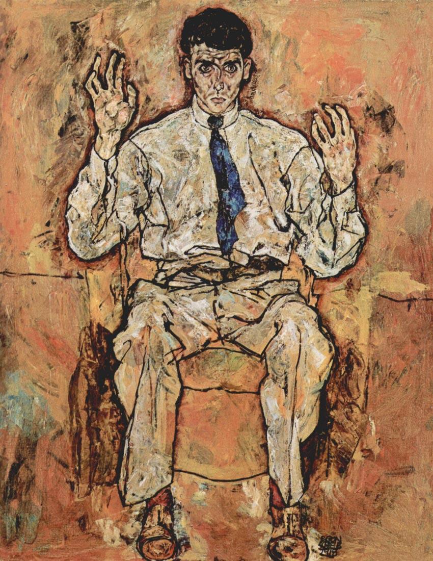 Portrait of Albert Paris von Gutersloh - Schiele