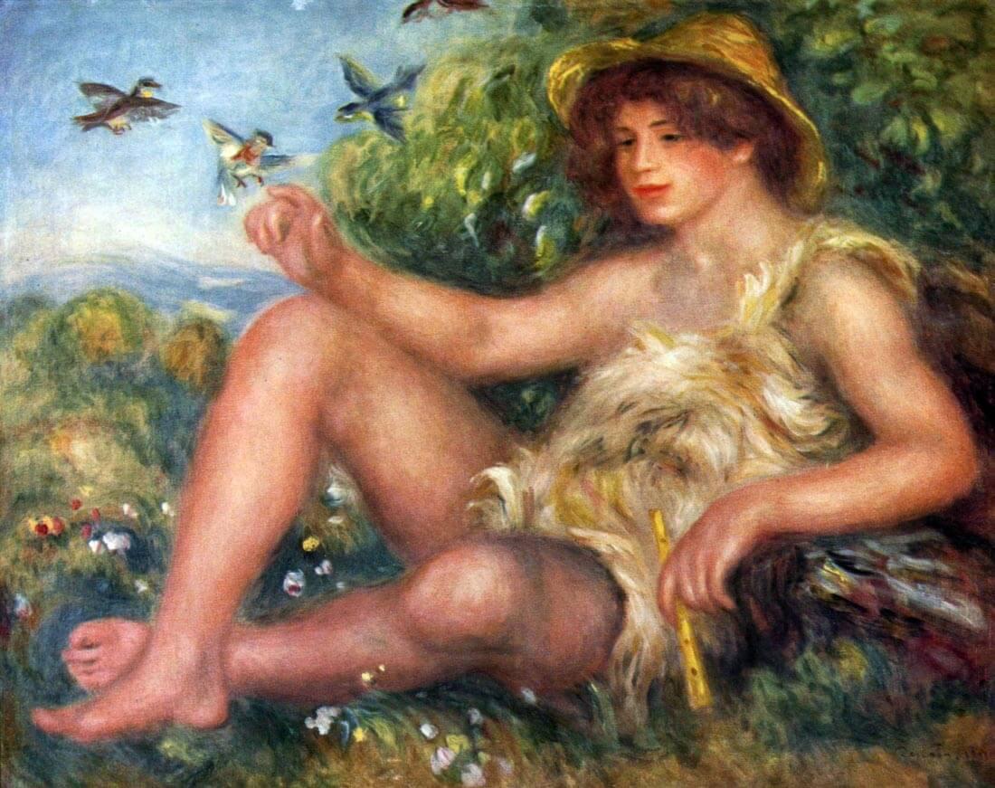 Portrait of Alexandre Thurneyssen as a shepherd boy - Renoir