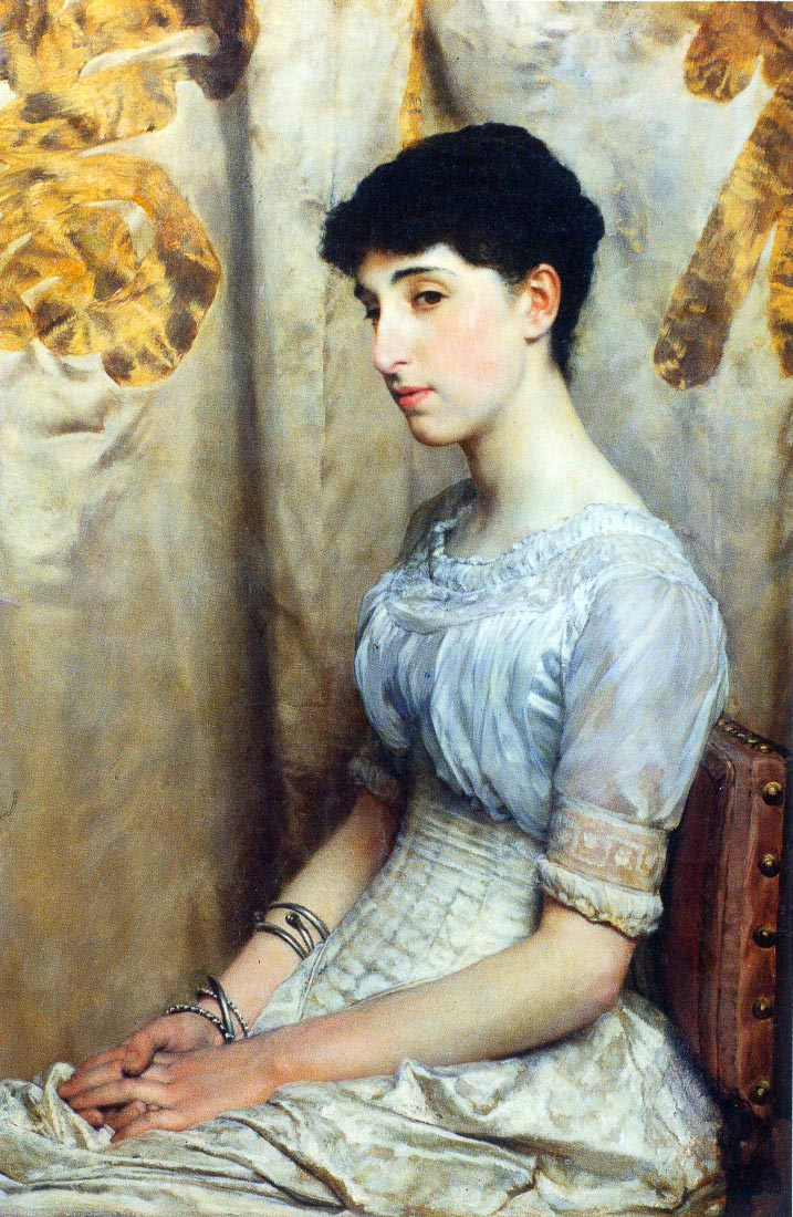 Portrait of Alice Lewis - Alma-Tadema