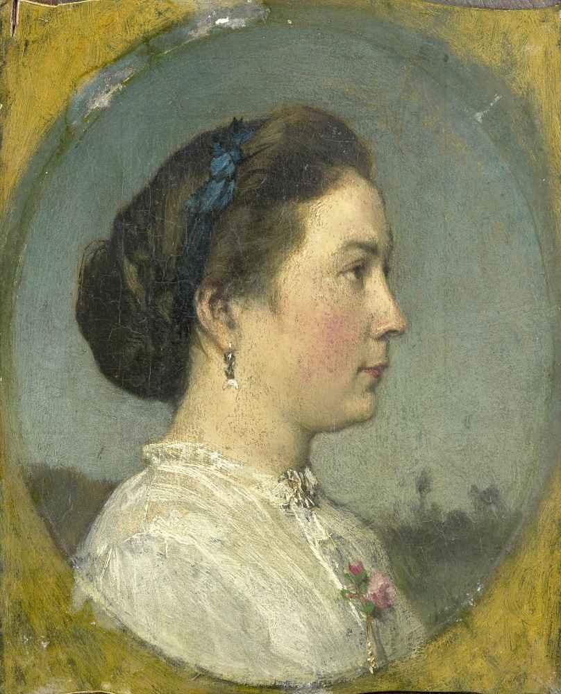Portrait of Catharina Hendrika Horn, the Artists Wife - Matthijs Maris