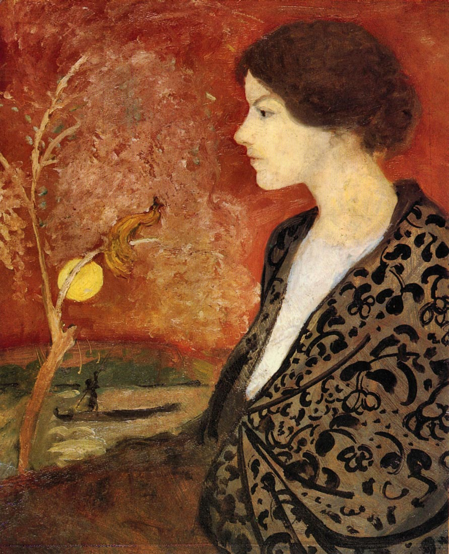 Portrait of Elisabeth Gerhardt - August Macke