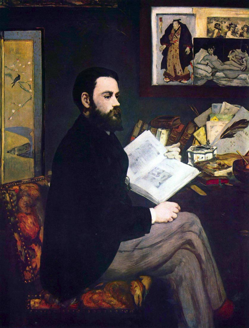 Portrait of Emile Zola - Manet
