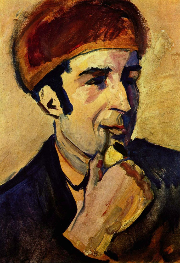 Portrait of Franz Marc - August Macke