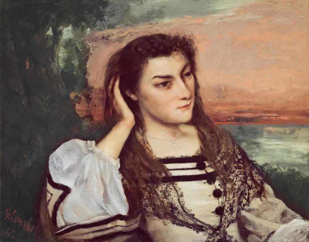 Portrait of Gabrielle Borreau - Gustave Courbet