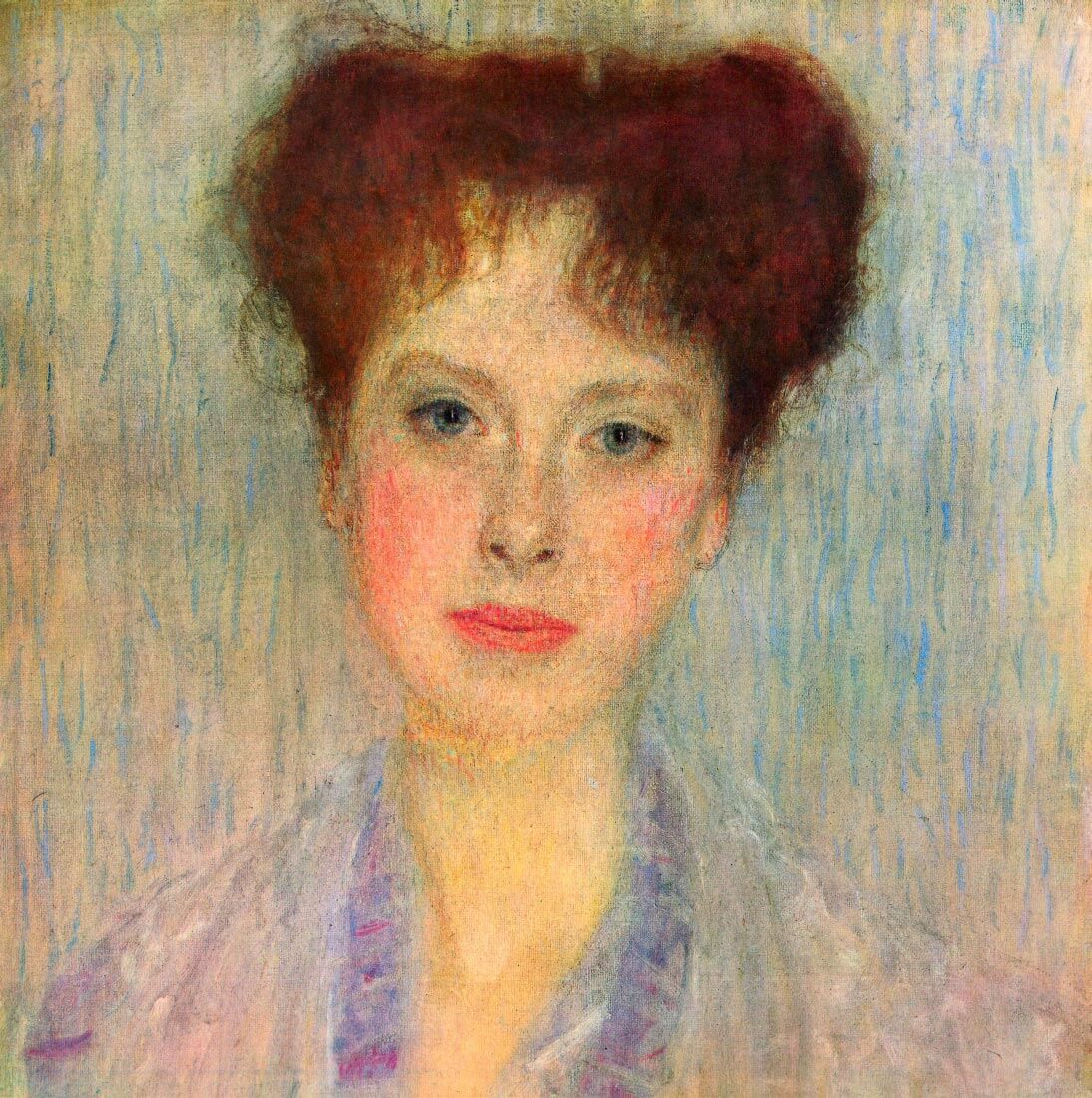 Portrait of Gertha Fersovanyi (detail) - Klimt