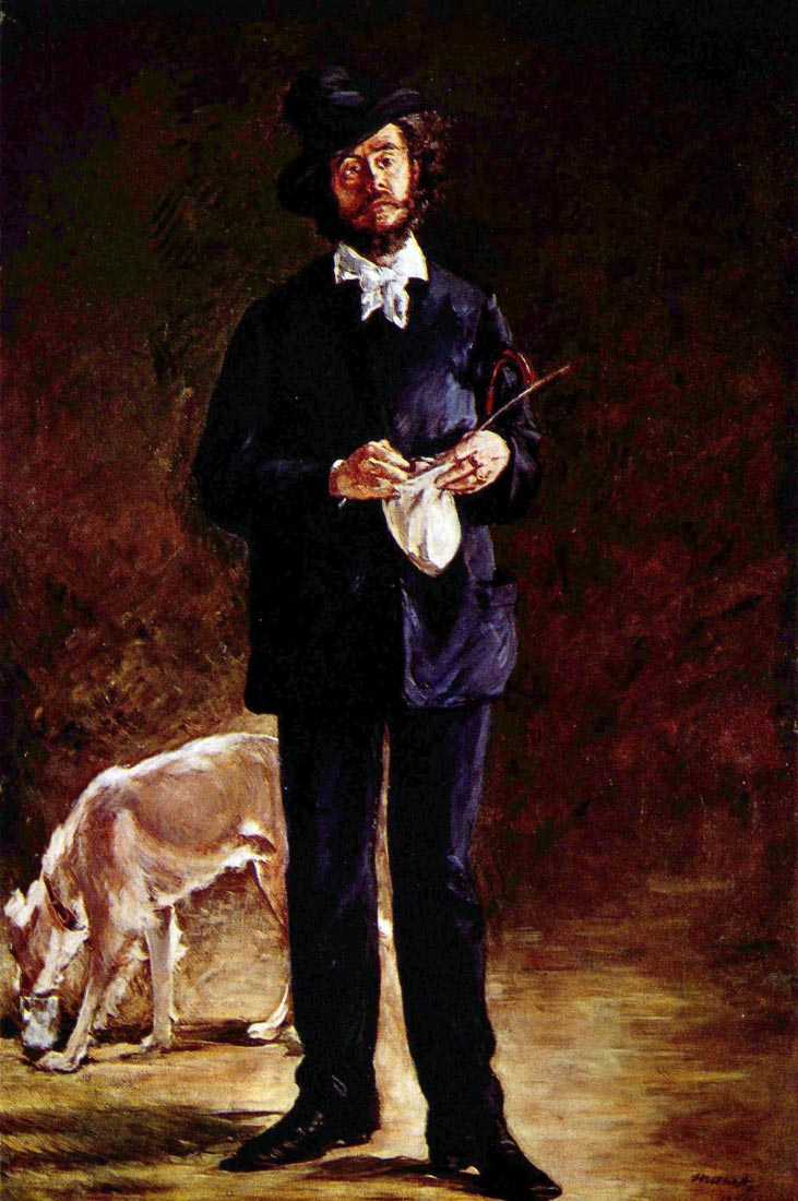 Portrait of Gilbert-Marcellin Desboutin - Manet