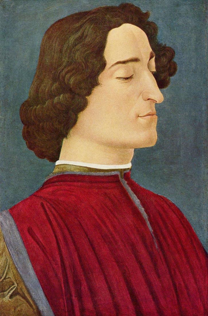 Portrait of Giuliano de Medici - Botticelli