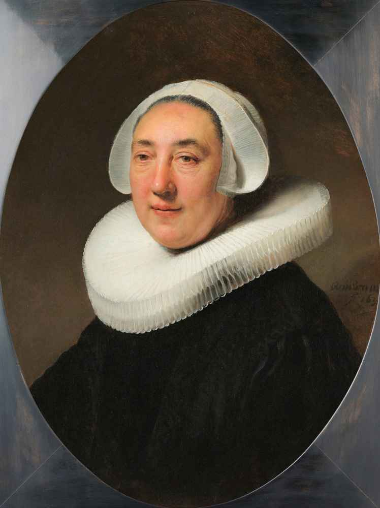Portrait of Haesje Jacobsdr van Cleyburg - Rembrandt Harmenszoon van R