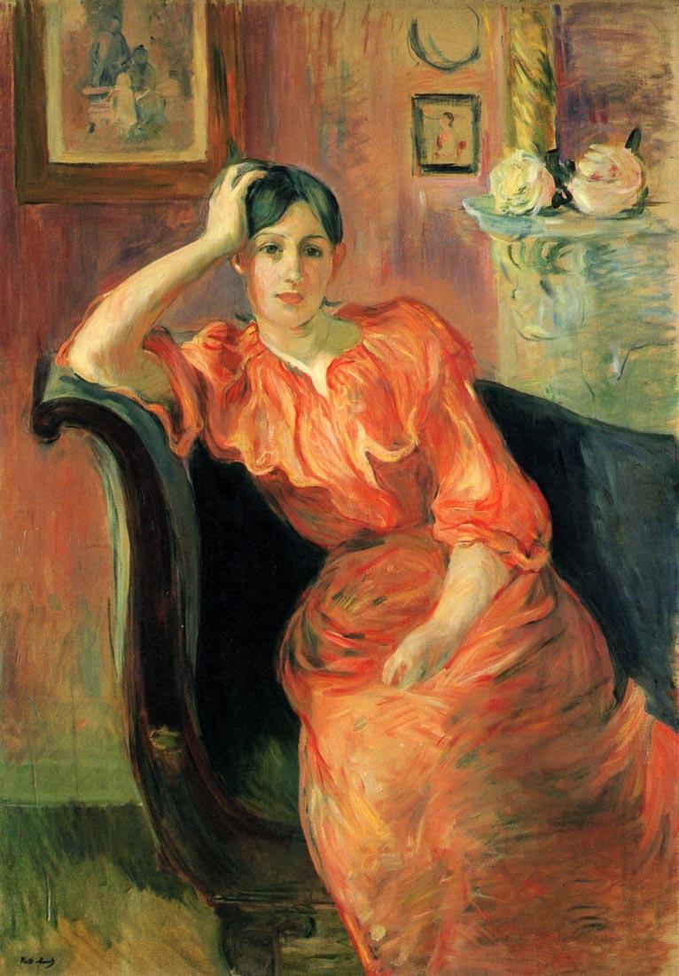 Portrait of Jeanne Pontillon - Morisot