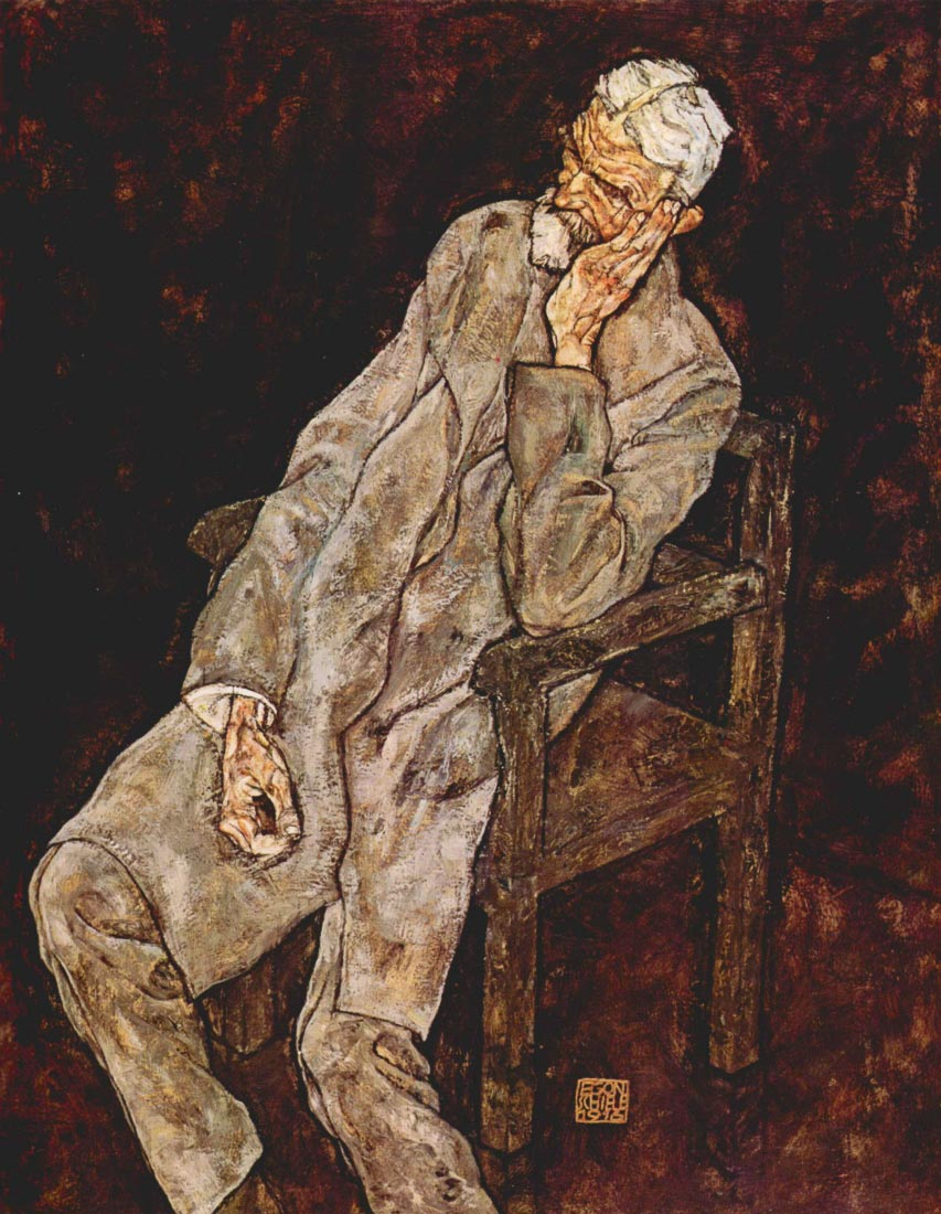 Portrait of Johan Harms - Schiele