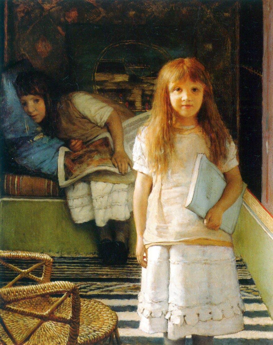 Portrait of Laurense and Anna Alma-Tadema as a child - Alma-Tadema