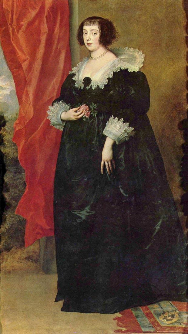 Portrait of Margaret von Lothringen - Van Dyck