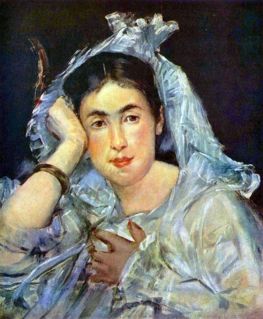 Portrait of Marguerite de Conflans - Manet