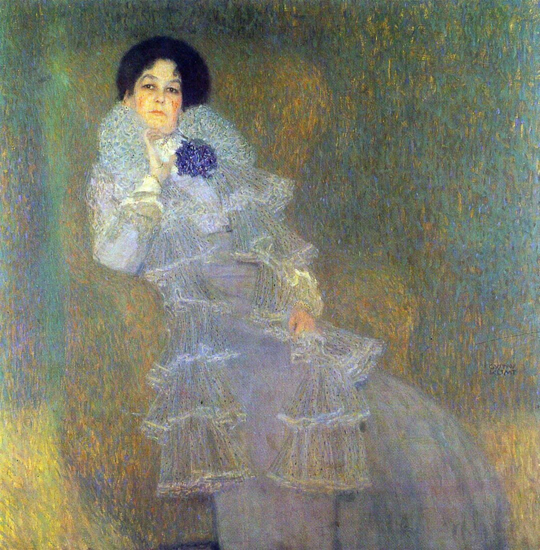 Portrait of Marie Henneberg (portrait in purple) - Klimt