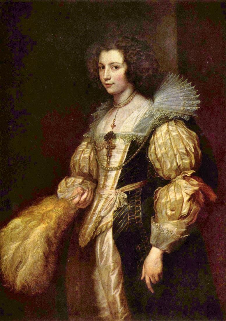 Portrait of Marie-Louise de Tassis - Van Dyck