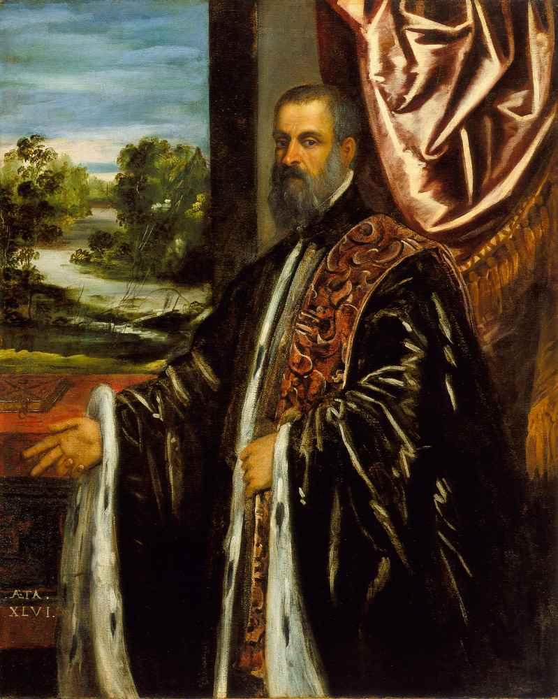 Portrait of Marino Grimani - Jacopo Tintoretto