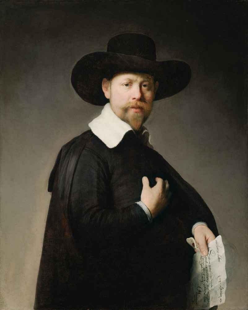 Portrait of Marten Looten - Rembrandt Harmenszoon van Rijn