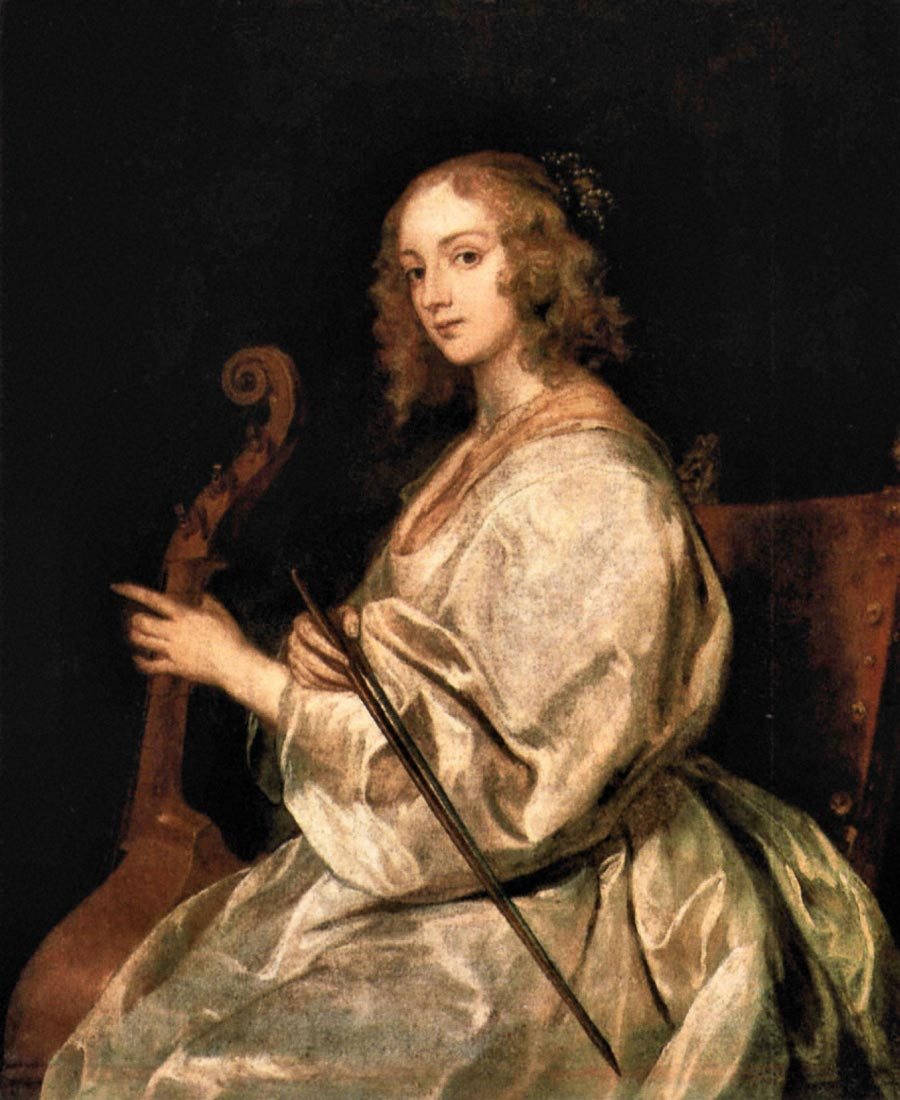 Portrait of Mary Ruthven, wife of the artist - Van Dyck