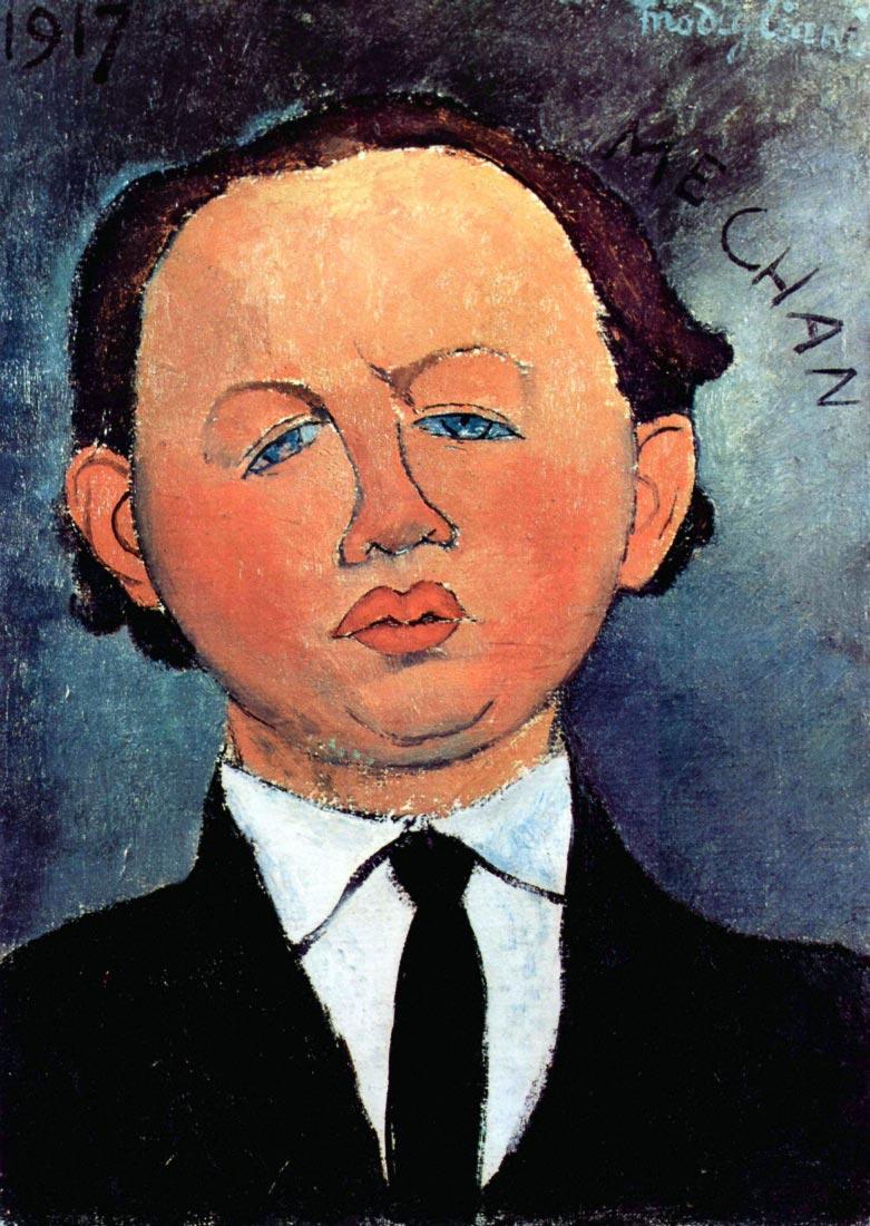 Portrait of Mechan - Modigliani