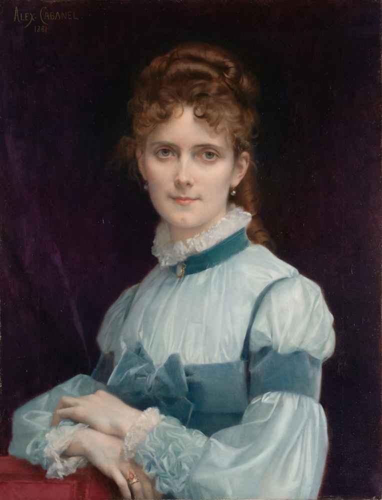 Portrait of Miss Fanny Clapp - Alexandre Cabanel