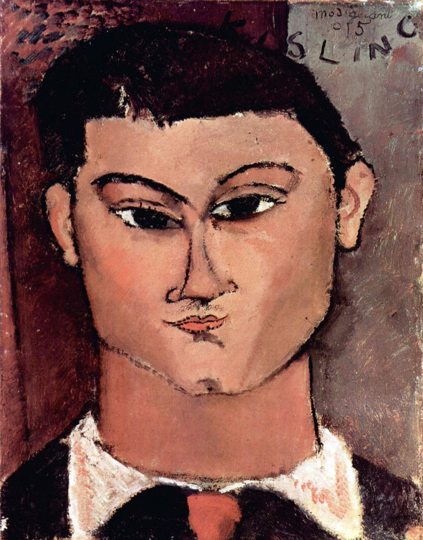Portrait of Moiise Kiesling - Modigliani