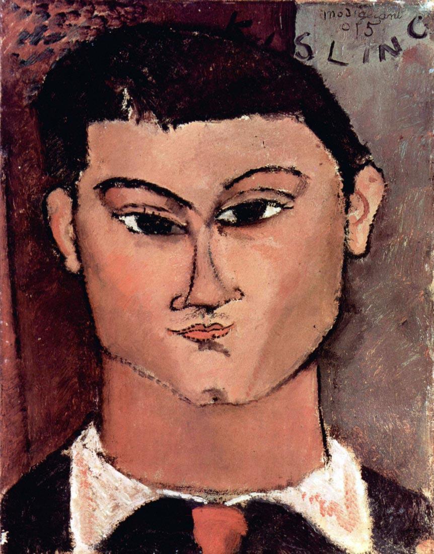Portrait of Moiise Kiesling - Modigliani