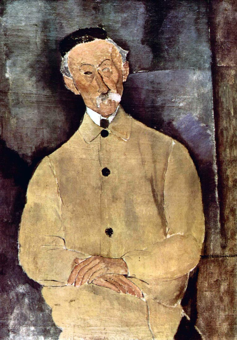 Portrait of Monsieur Lepoutre - Modigliani