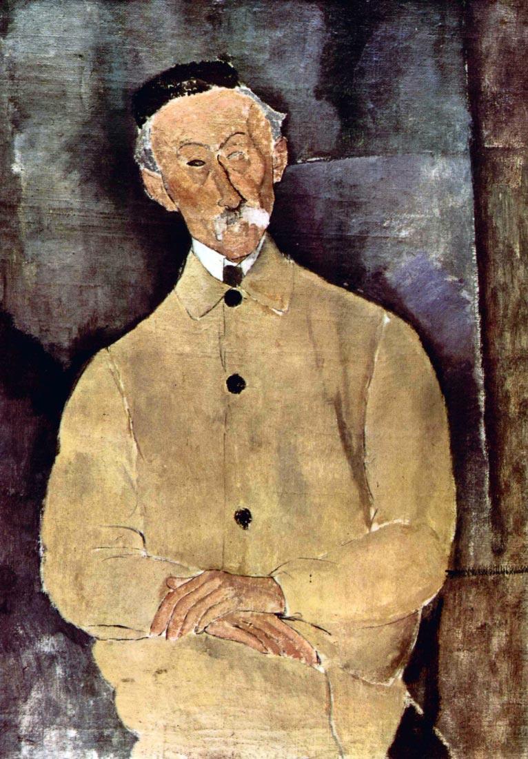 Portrait of Monsieur Lepoutre - Modigliani