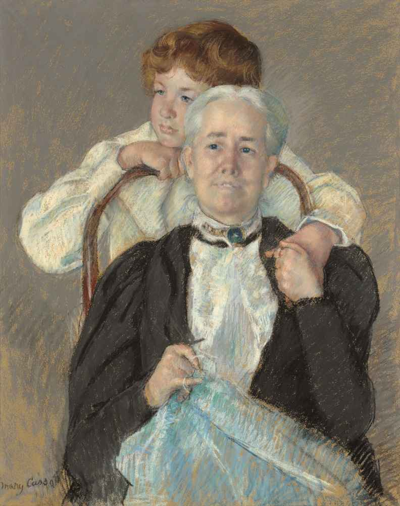 Portrait of Mrs. Cyrus J. Lawrence with her Grandson R. Lawrence Oakle