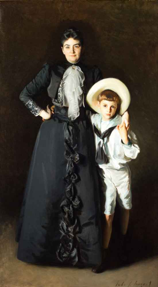 Portrait of Mrs. Edward L. Davis and Her Son, Livingston Davis - John