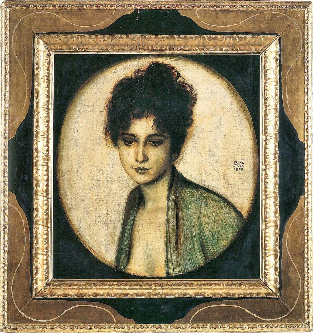 Portrait of Mrs. Feez - Franz von Stuck