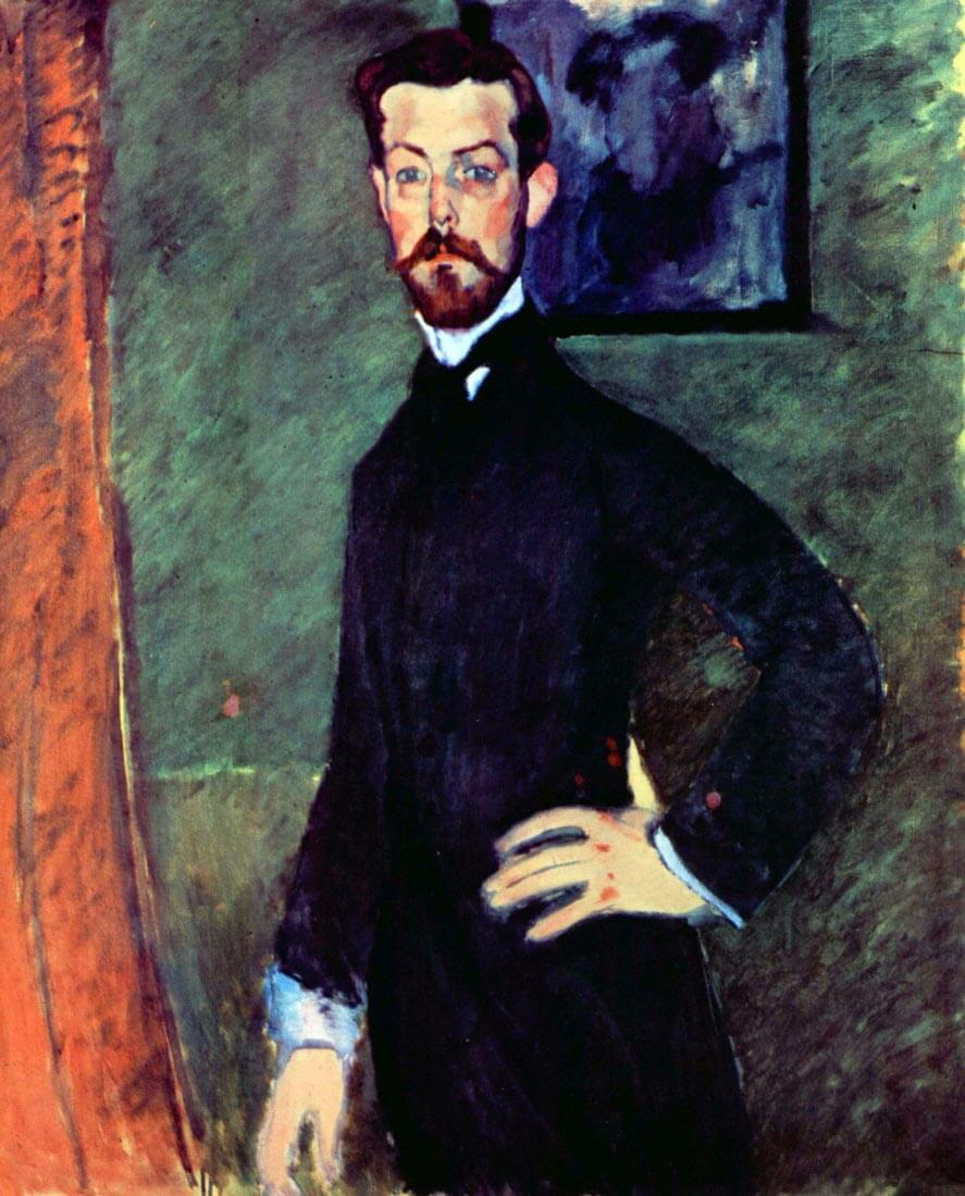 Portrait of Paul Alexanders before a green background - Modigliani