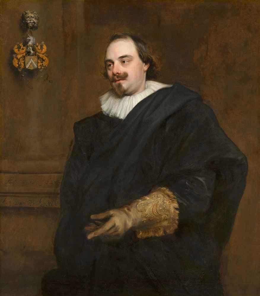 Portrait of Peeter Stevens - Antoon van Dyck
