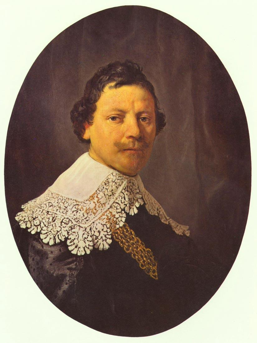 Portrait of Philips Lukasz - Rembrandt