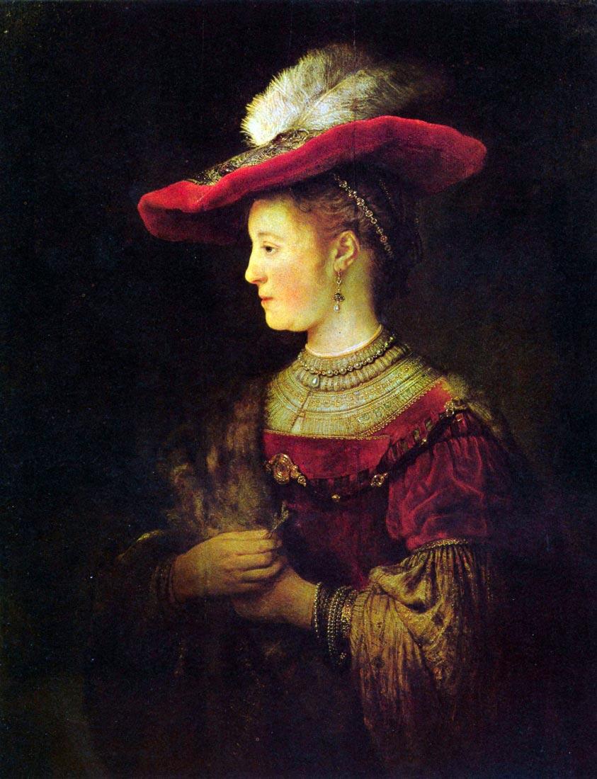 Portrait of Saskia (Saskia as a young woman) - Rembrandt