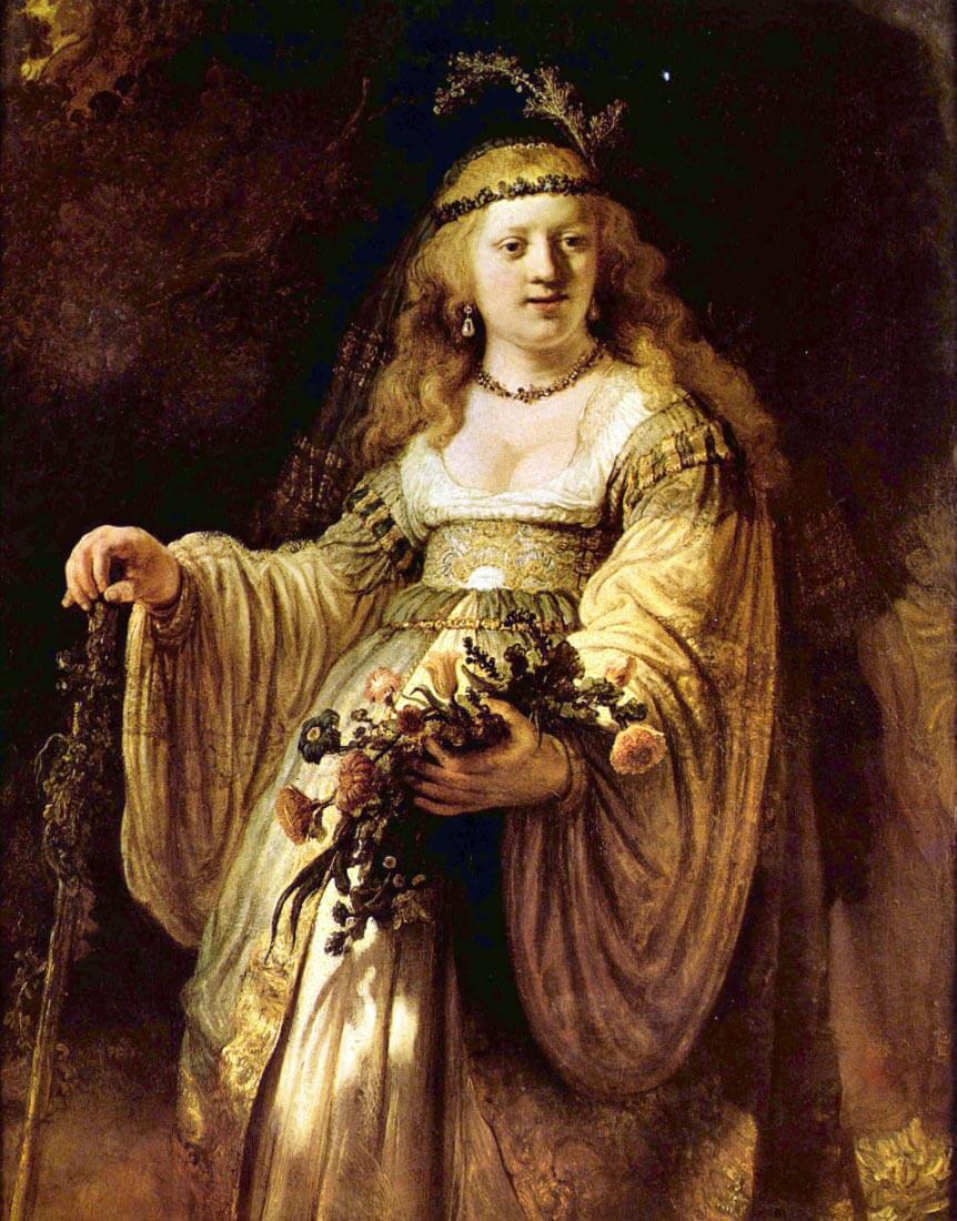 Portrait of Saskia as Flora - Rembrandt