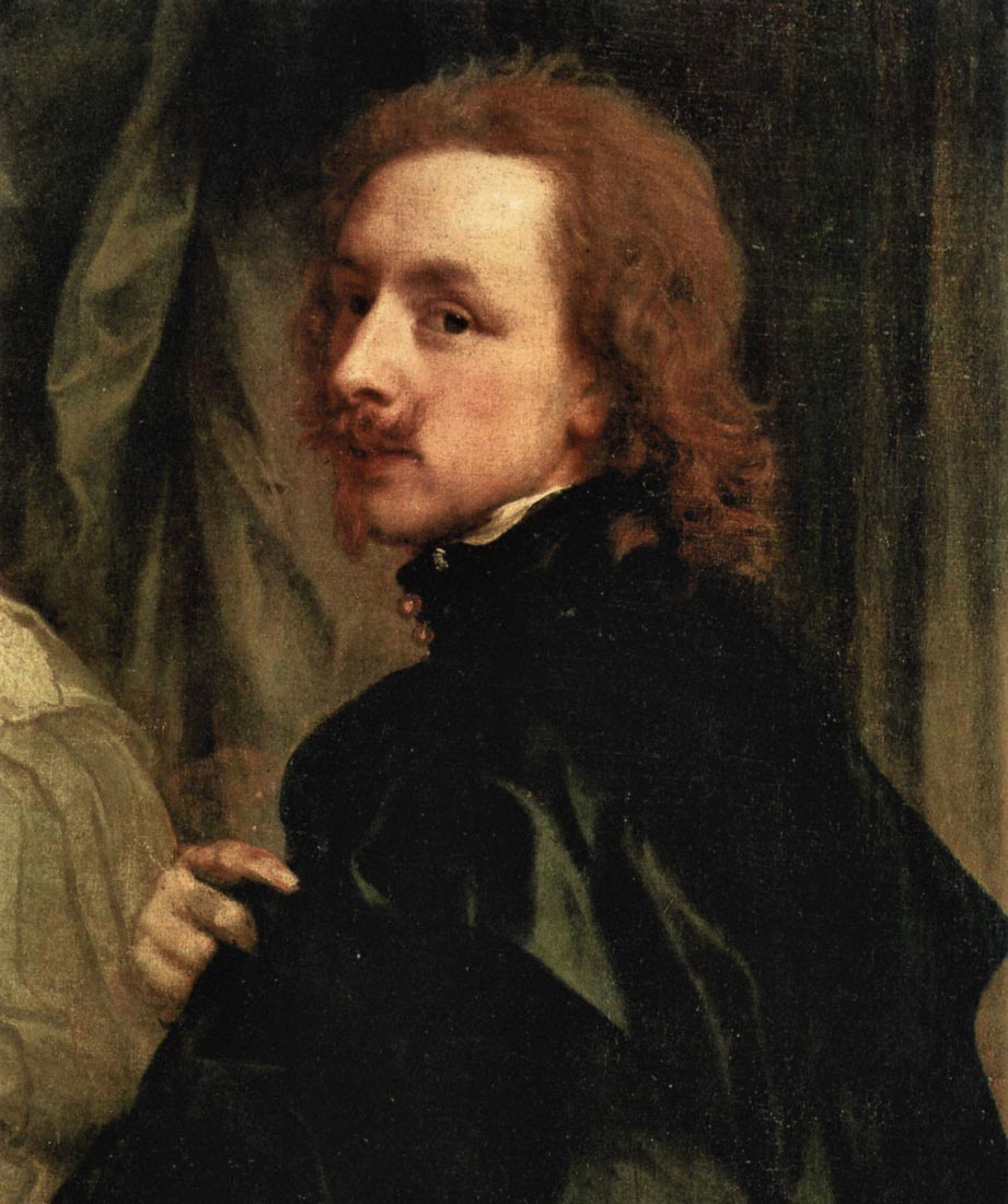 Portrait of Sir Endimion Porter and self-portrait, detail - Van Dyck