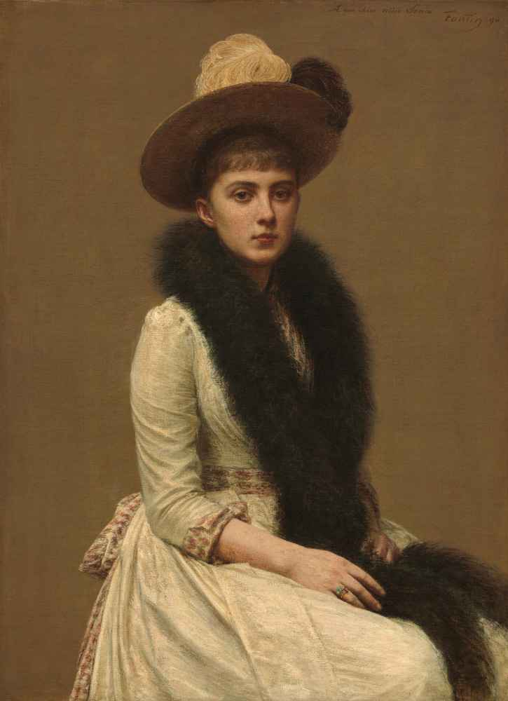 Portrait of Sonia 1890 - Henri Fantin-Latour