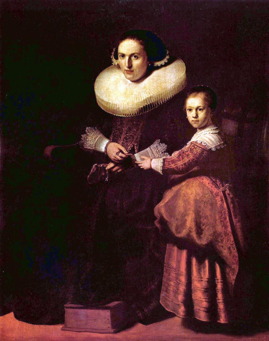 Portrait of Susanna and her daughter Pellicorne - Rembrandt
