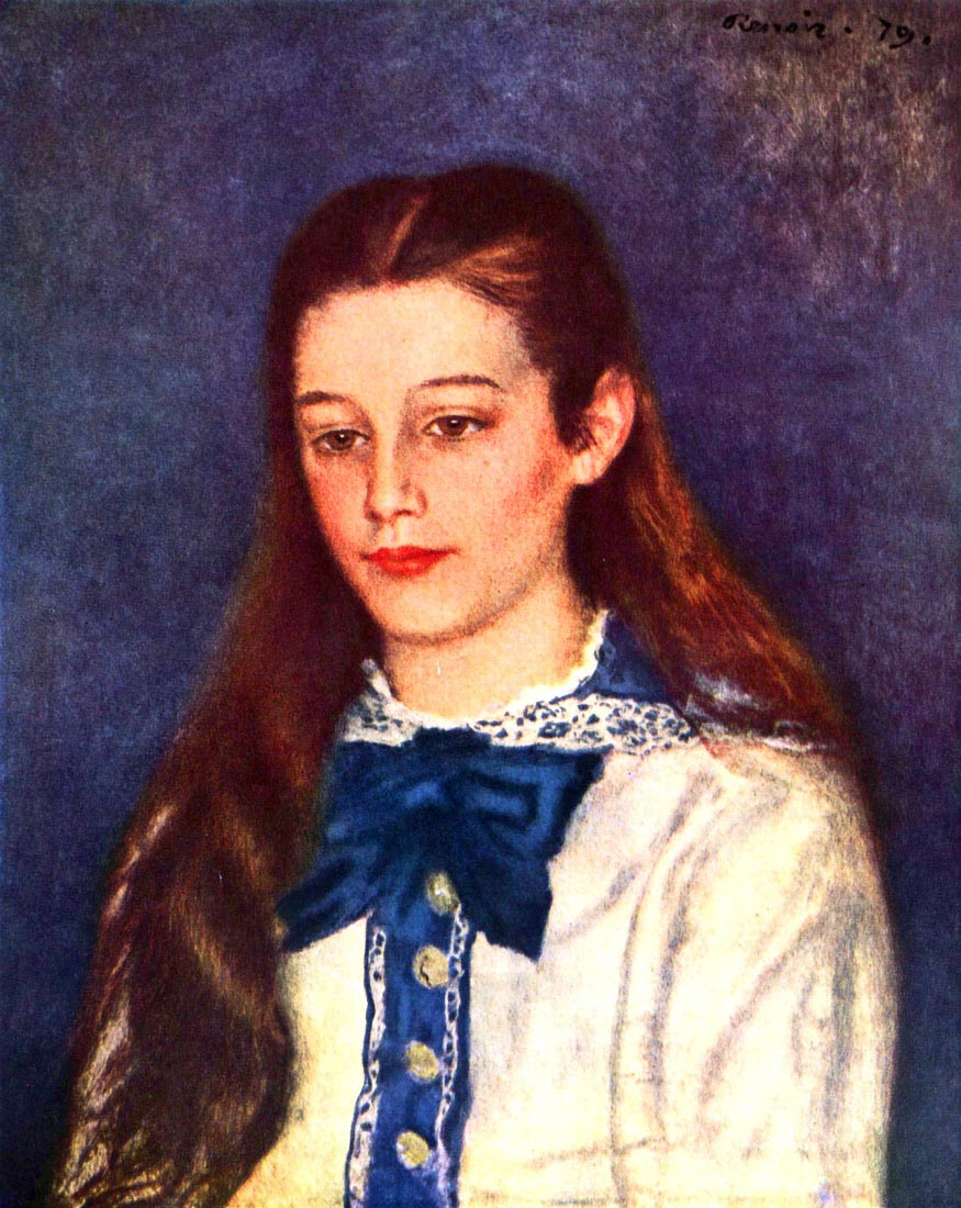 Portrait of Therese Berard - Renoir