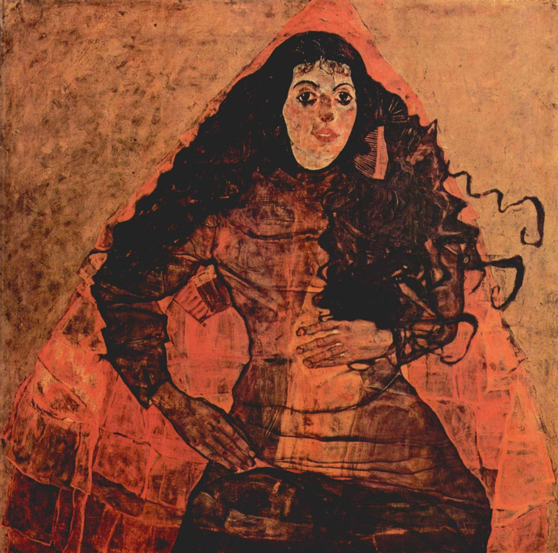 Portrait of Trude Engel - Schiele