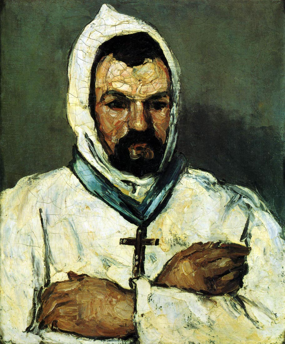 Portrait of Uncle Dominique as a monk - Cezanne