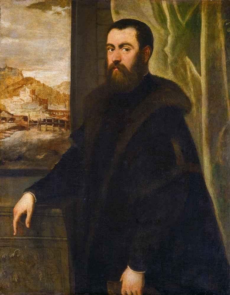 Portrait of a Man with a Landscape View - Jacopo Tintoretto