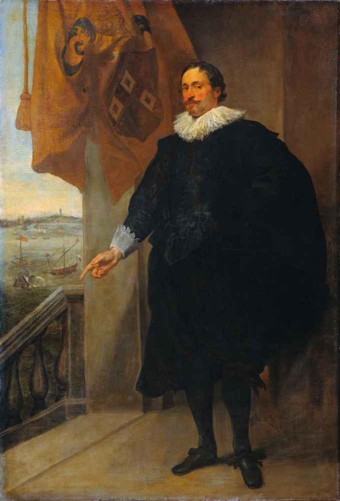 Portrait of a Nobleman, possibly Adriaan van der Borcht - Antoon van D