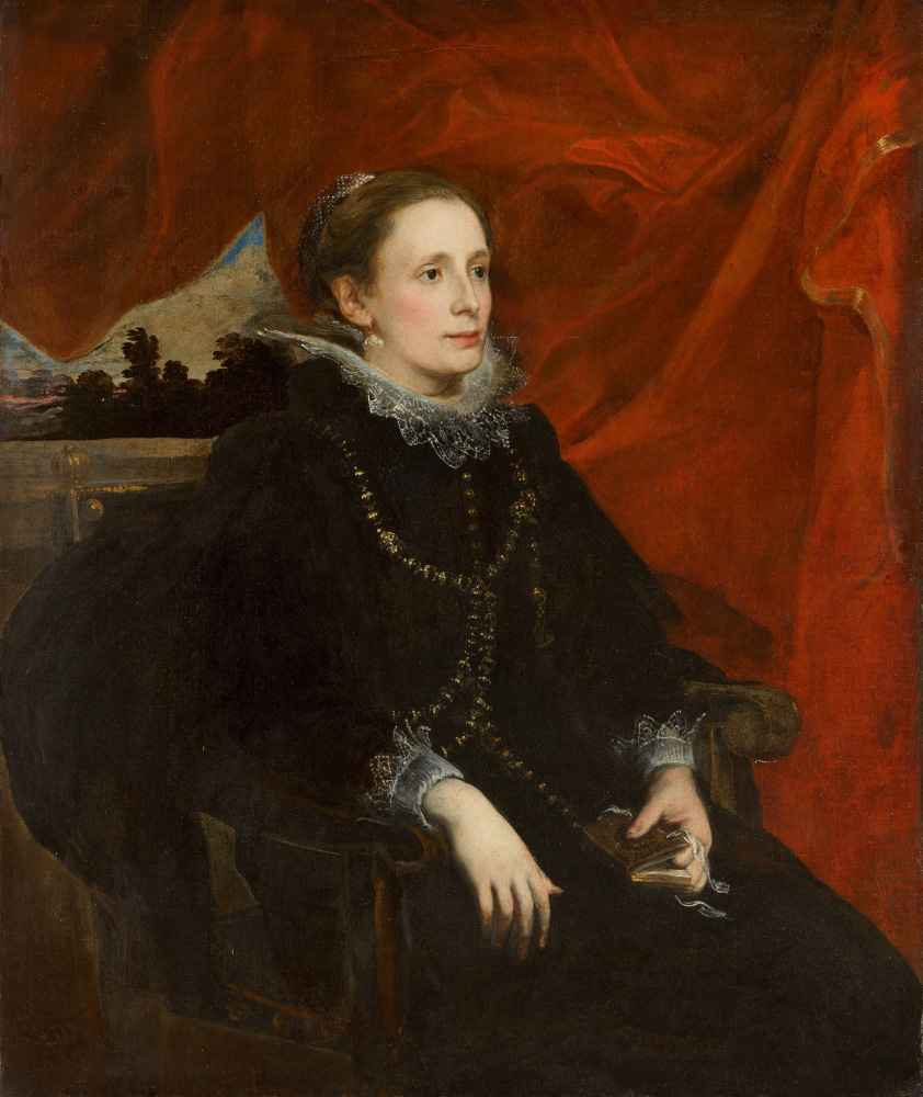Portrait of a Woman, Called the Marchesa Durazzo - Antoon van Dyck
